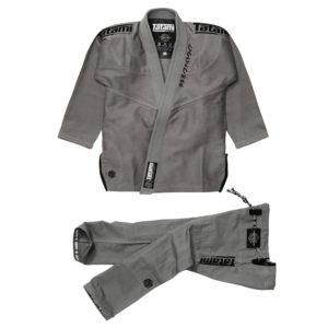 tatami bjj gi estilo black label grey black 1
