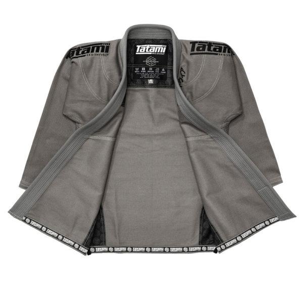 tatami bjj gi estilo black label grey black 3