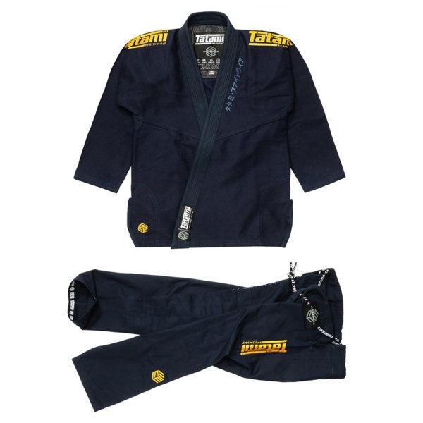 tatami bjj gi estilo black label navy gold 1