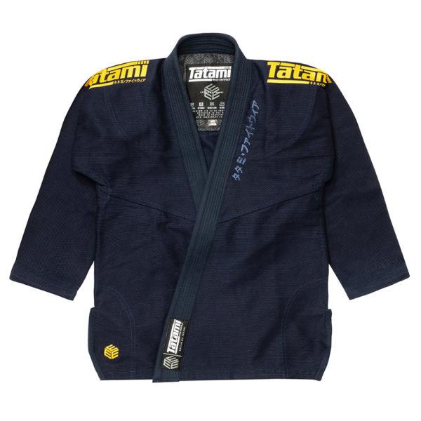 tatami bjj gi estilo black label navy gold 2