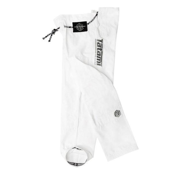 tatami bjj gi estilo black label white grey 12