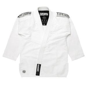 tatami bjj gi estilo black label white grey 18