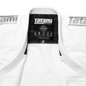 tatami bjj gi estilo black label white grey 4
