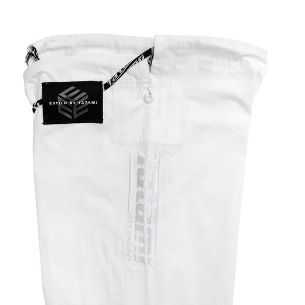 tatami bjj gi estilo black label white white 15