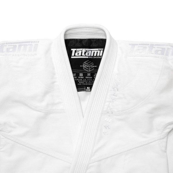 tatami bjj gi estilo black label white white 6