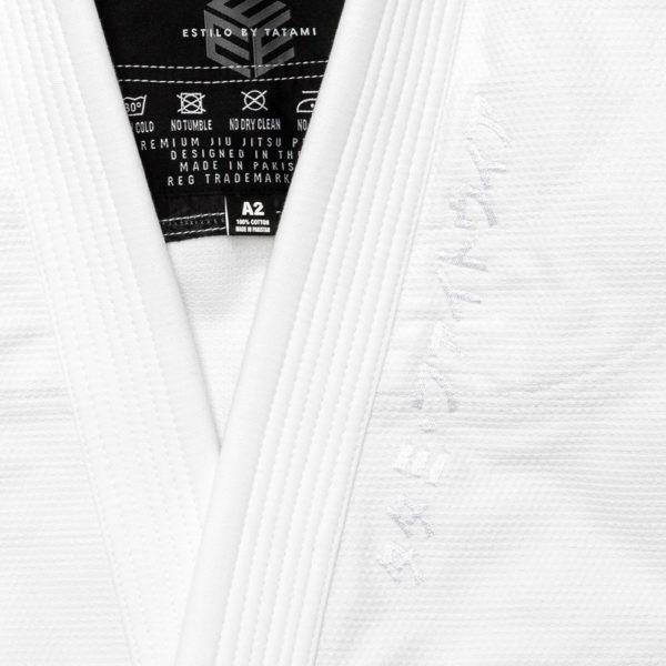 tatami bjj gi estilo black label white white 8