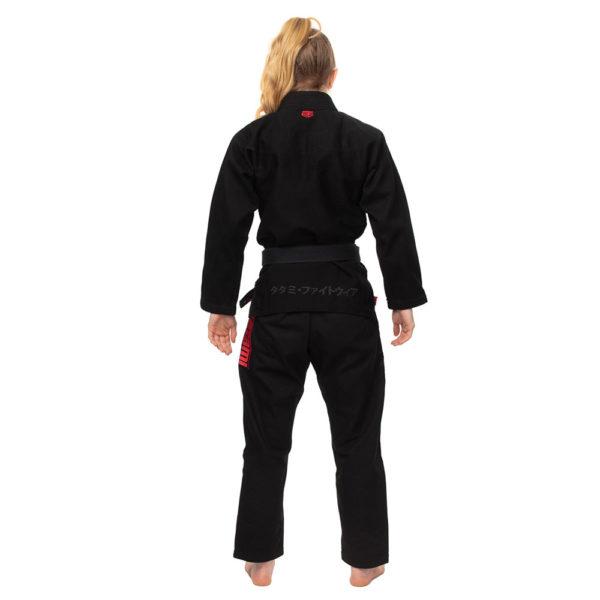 tatami bjj gi ladies estilo black label black red 5