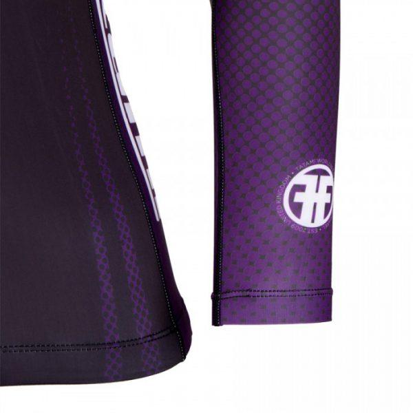 tatami ibjjf rashguard purple detail