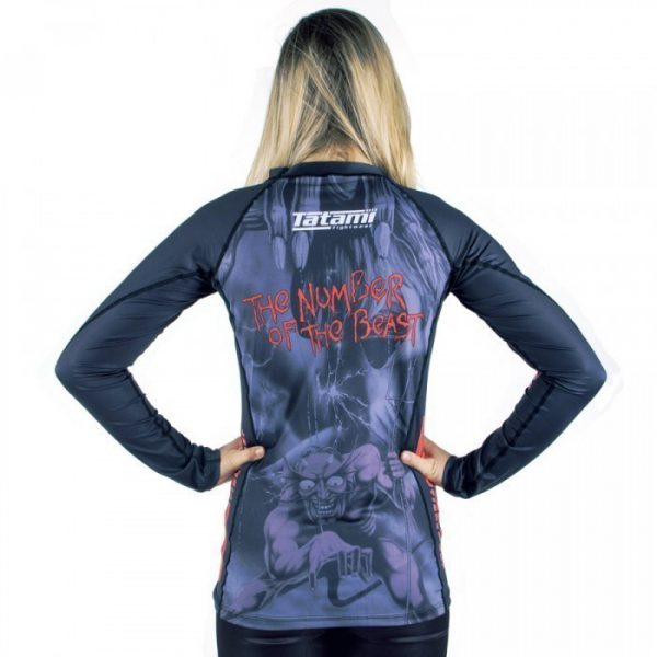 tatami x iron maiden ladies number o the beast rashguard 2